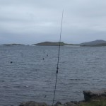 Portable amateur radio set up using Buddipole in Castlebay, Isle of Barra