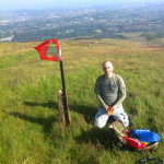 Mark MM6BJJ set up on Allermuir Hill