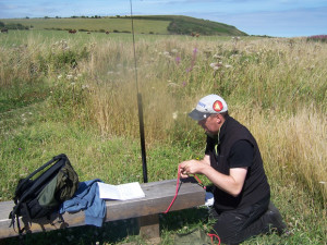 Carl 2E0HPI operating from WWFF Activation Durham Coast GFF-107